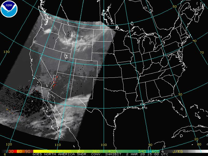 GOES Sounder Convective Inhibition Image