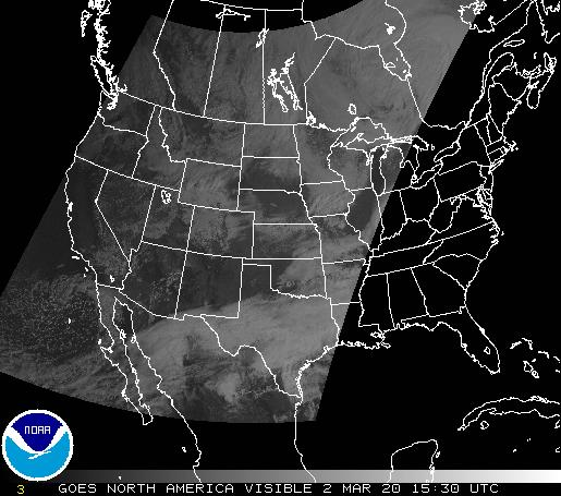 Conus visible  satellite