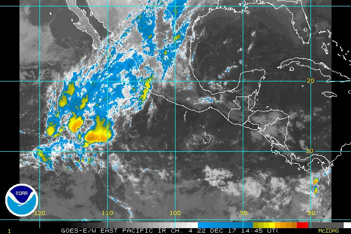 GEOS-10 Infrared enhanced Sat photo 100K