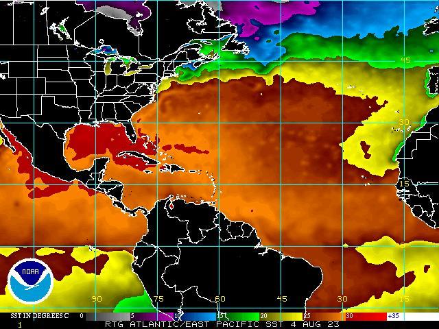 Atlantic And Caribbean Tropical Satellite Imagery Satellite
