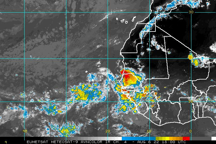 Eastern Atlantic Infrared Image - click to loop