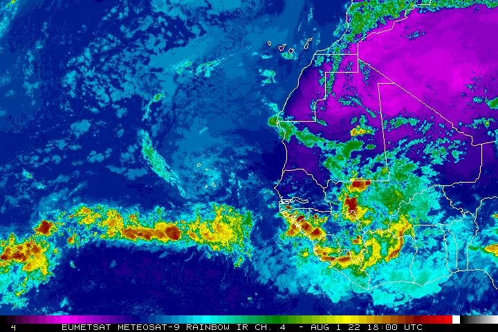 Meteosat-9 Eastern Atlantic Infrared