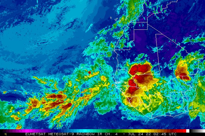 Meteosat East Atlantic Regional Infrared