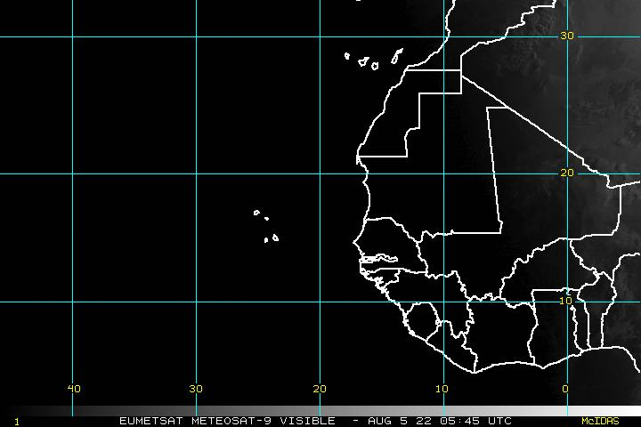 Eastern Atlantic Visible Image - click to loop