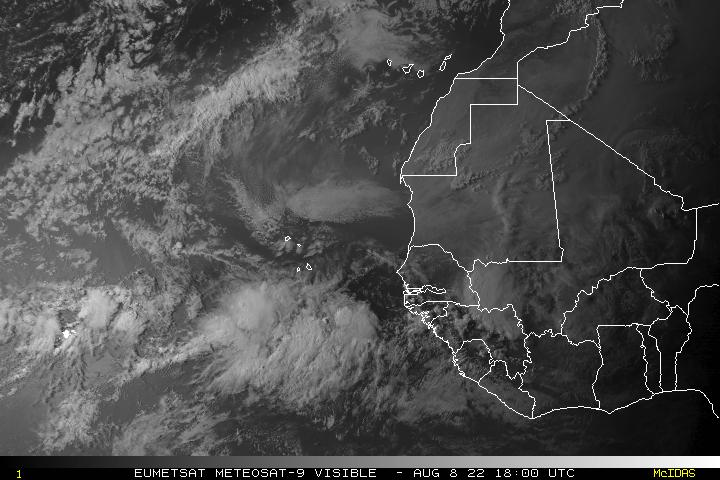 Meteosat East Atlantic Visible