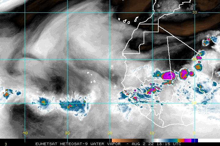 Eastern Atlantic water vapor Image - click to loop
