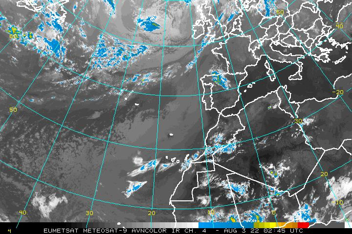 Northeast Atlantic Infrared Image - click to loop