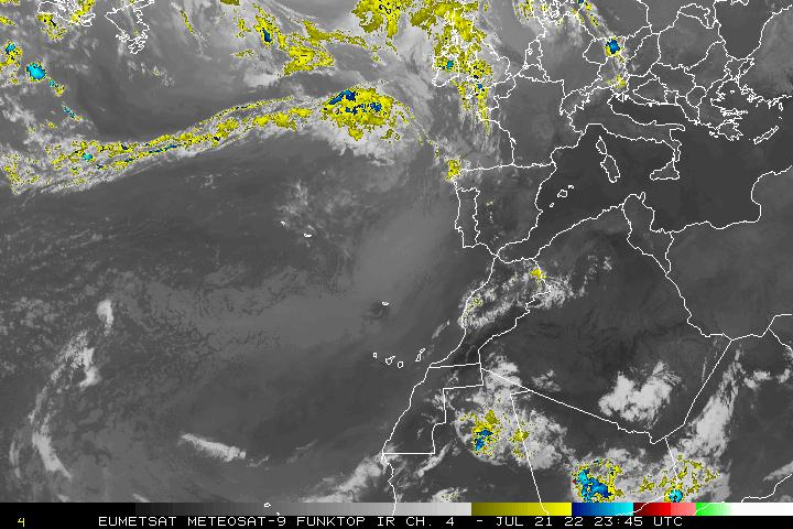 Image satellite colorisée pluie