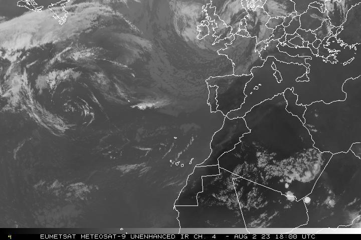 Image satellite infrarouge