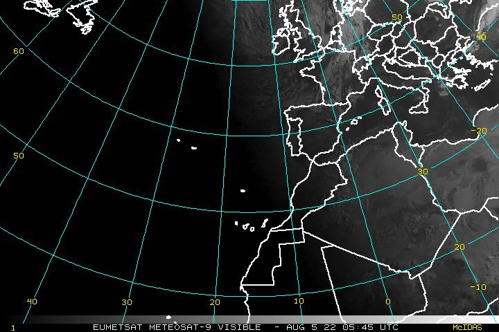 Northeast Atlantic Visible Image - click to loop