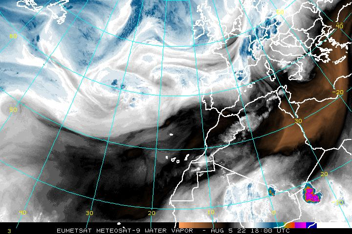 Northeast Atlantic Water Vapor Image - click to loop