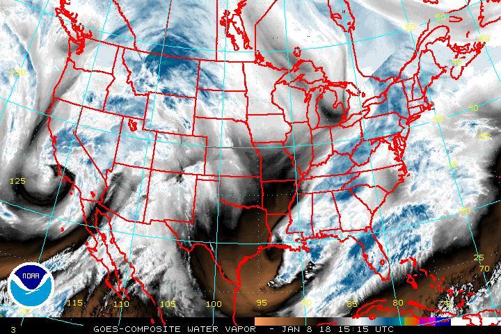 NOAA Water Vapor Image