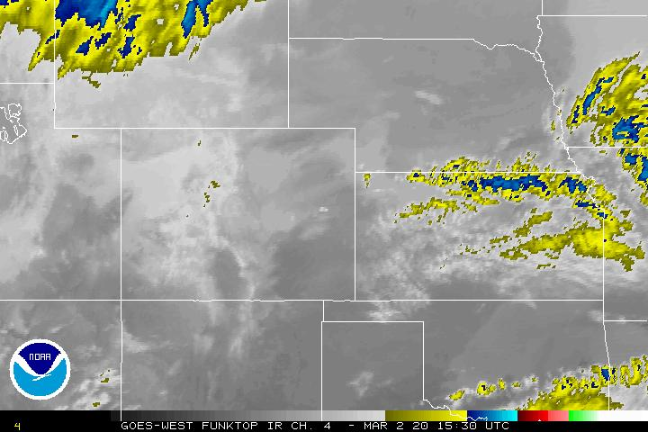 Infrared Satellite Image Centered on the Central Plains