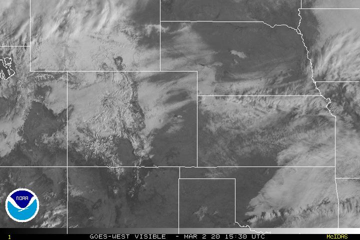 Visible Satellite Image Centered on the Central Plains