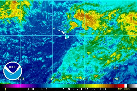 Central Pacific Satellite image