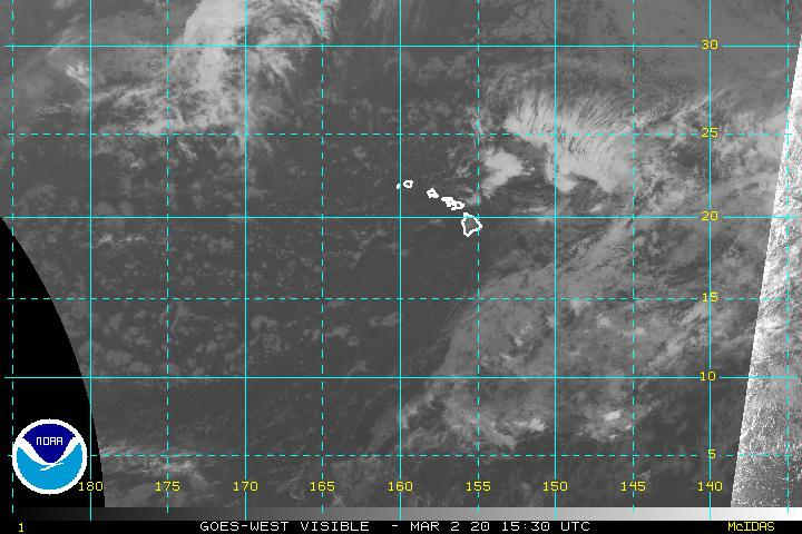 Central Pacific VIS Satellite Image