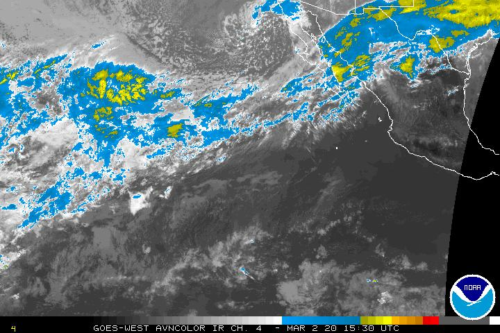 East Eastern Pacific Infrared Satellite Image