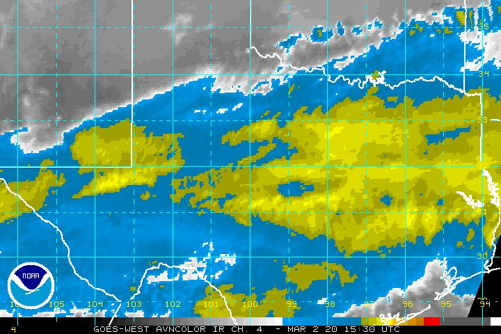 GOES-WEST Infrared AVN Enhancement