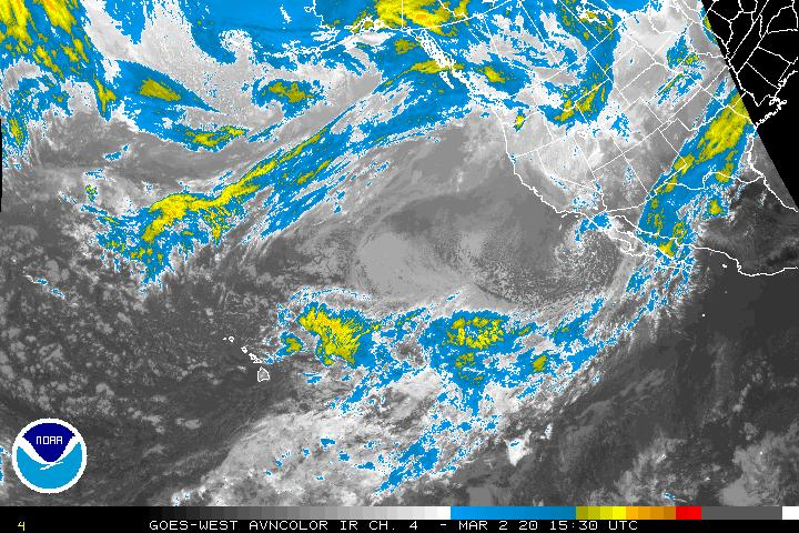 Northeast Pacific Infrared Image - click to loop