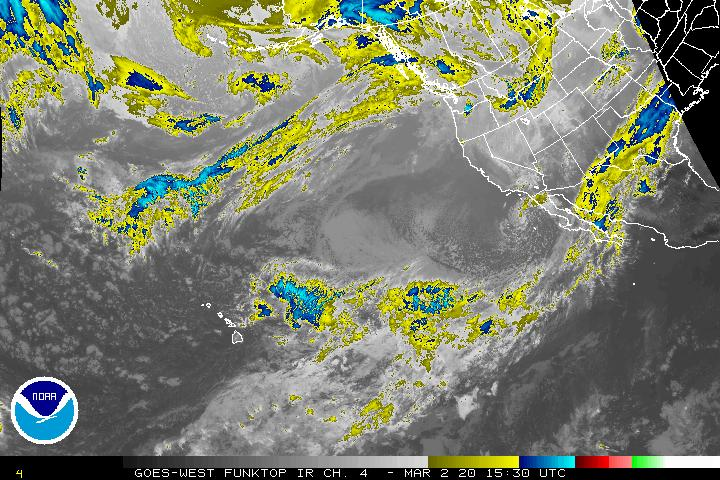 Infrared Satellite Image Centered on the Western U.S.