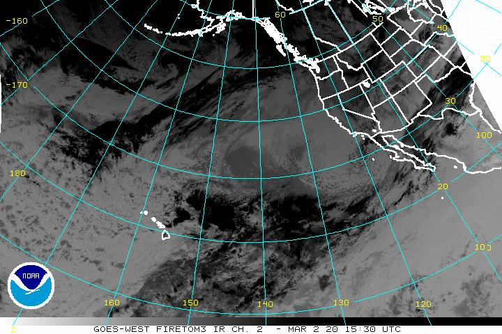 Fog satellite view of the eastern Pacific - western US