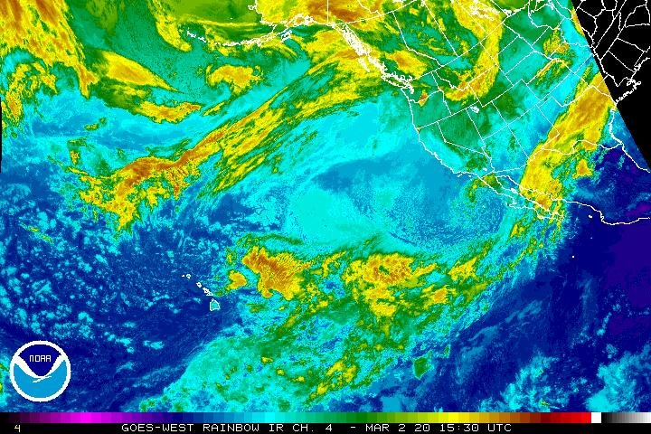 Meteosat-9 Northeast Atlantic Sector Infrared
