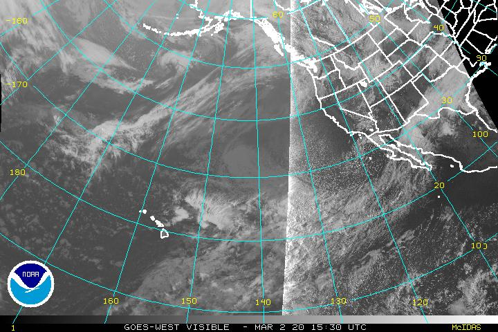 Enhanced Infrared satellite view of the eastern Pacific - western US