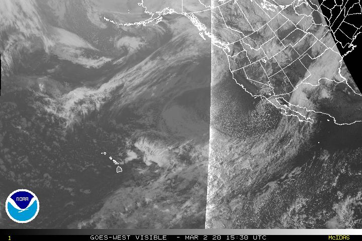 Visible Satellite Image Centered on the Western U.S.