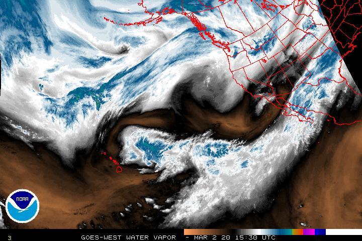 Latest Water Vapor Satellite Image