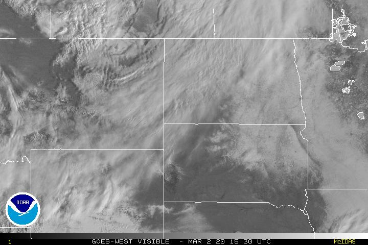 Visible Satellite Image Centered on the Northern Plains
