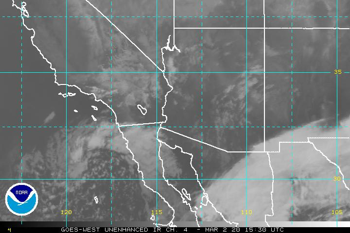 Southwest Us Imagery Goes West Satellite Services Division - Us-cloud-cover-map