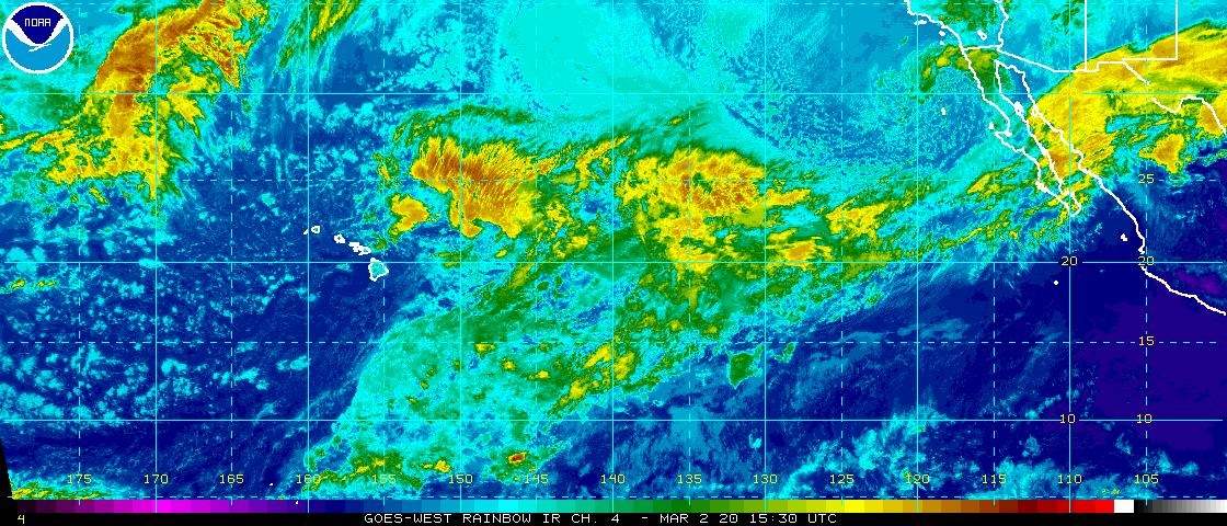 Latest East-Central Pacific Basin Infra-Red Satellite Image