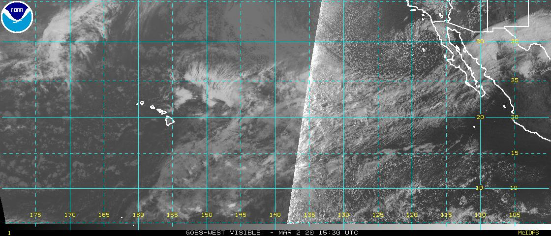 NOAA Satellite image Pacific hurricanes