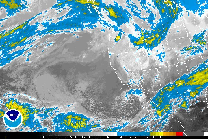 Western U.S. Infrared Image - click to loop