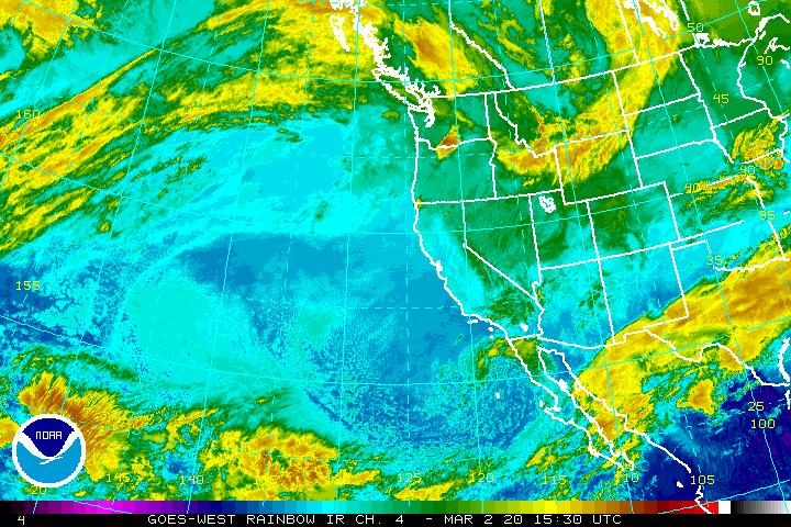 NOAA Long Range Pacific Satellite Image