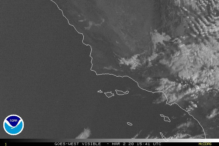 Southern California cloud cover