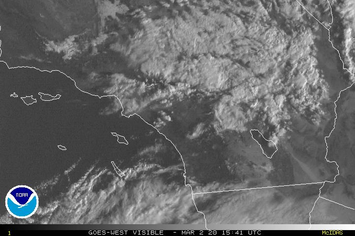 NOAA NWS Satellite Map—Southern California: 1km Visible