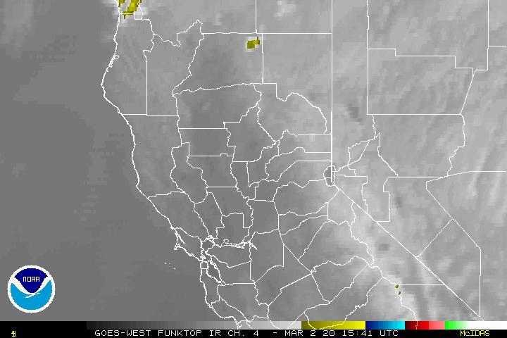 National Weather Service NWS Sacramento - Us satellite map