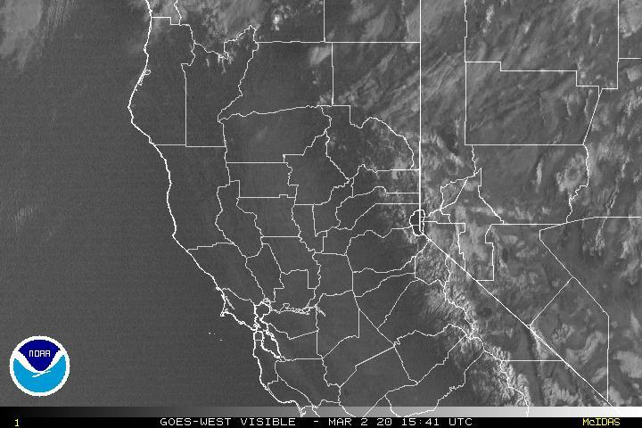 Northern California weather satellite imagery