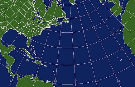 North Atlantic Coverage Map