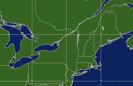 Northeast US Imagery GOESEAST Satellite Products And - Satellite map us