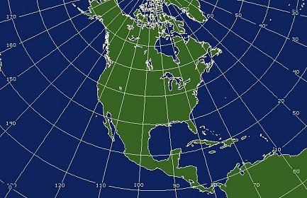 Northern Hemisphere Coverage Map