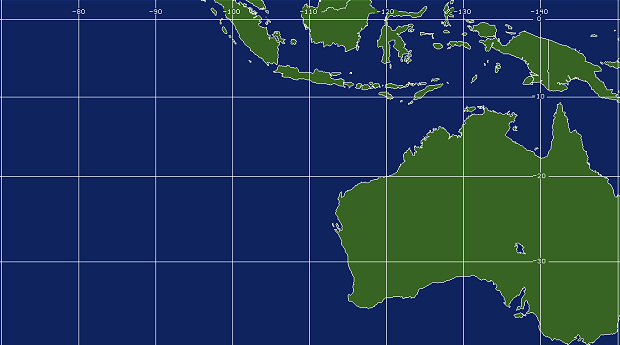 Tropical West Australia Coverage Map