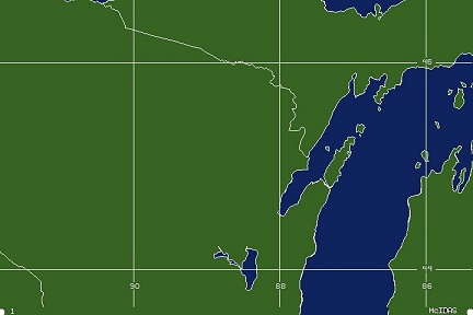 Green Bay, WI WFO Coverage Map