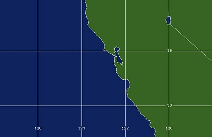 San Francisco Bay, CA WFO Coverage Map